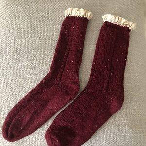 Free People Speckled Ruffle Socks